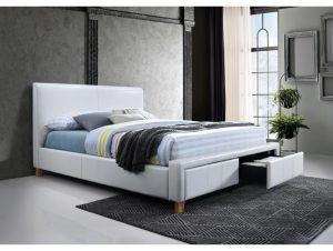 Kakovostna zakonska postelja v sivi barvi sredi moderne spalnice.